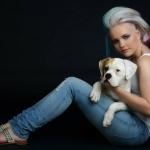 Model portfolio shoot, haar en make-up door BlitzzZ