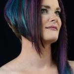 Wedstrijdmodel Colorzoom. Haar en make-up door BlitzzZ